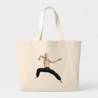 Wu Shu Squat Form Looking Left Large Tote Bag
