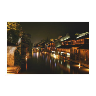 Wu Town in China Canvas Print