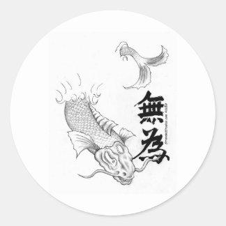 Wu Wei Koi Classic Round Sticker