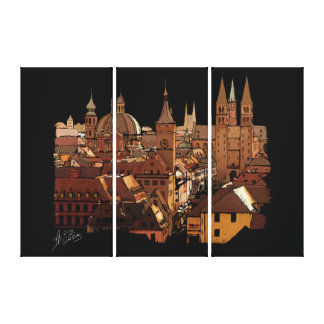 Wuerzburg Germany skyline architecture Canvas Print