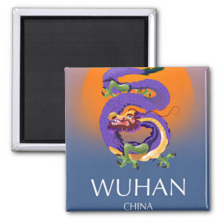 Wuhan China Dragon travel poster Magnet
