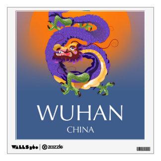 Wuhan China Dragon travel poster Wall Decal
