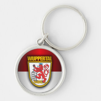 Wuppertal Silver-Colored Round Keychain