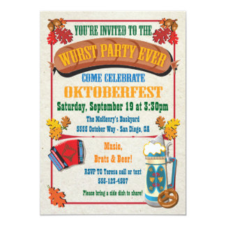 Wurst Party Ever Oktoberfest Invitations