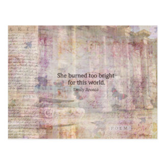 Wuthering Heights Quote by Emily Bronte Postcard