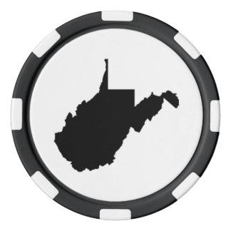 WV State Poker Chips