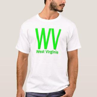 WV West Virginia plain green T-Shirt