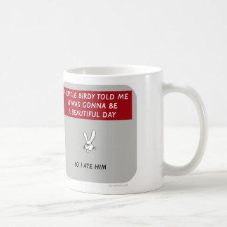 """WW046 waitwot """"badass bunny"""" little birdy Coffee Mug"""