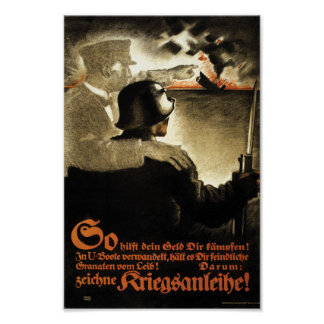 WW1 German Propaganda Buy War Bonds Poster