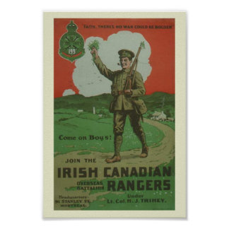 WW1 Irish Canadian Rangers Poster