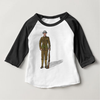 WW1 soldier Marine Sketch Baby T-Shirt