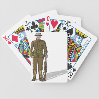 WW1 soldier Marine Sketch Bicycle Playing Cards