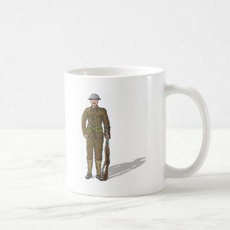 WW1 soldier Marine Sketch Coffee Mug