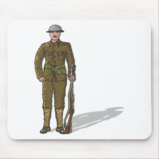 WW1 soldier Marine Sketch Mouse Pad