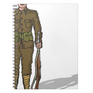 WW1 soldier Marine Sketch Notebook