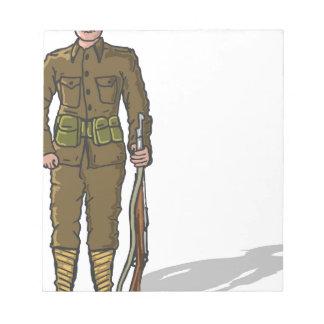 WW1 soldier Marine Sketch Notepad