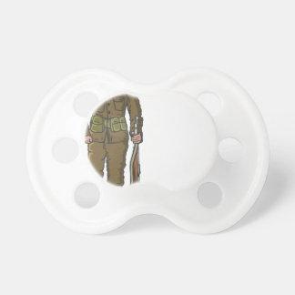 WW1 soldier Marine Sketch Pacifier