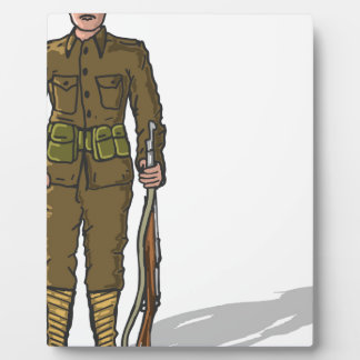 WW1 soldier Marine Sketch Plaque