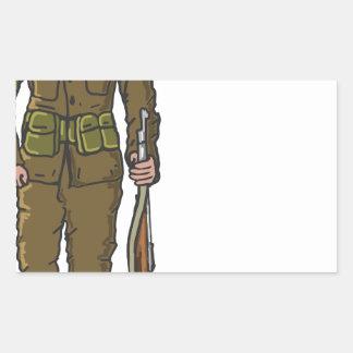 WW1 soldier Marine Sketch Sticker