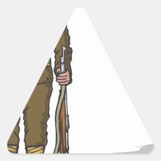 WW1 soldier Marine Sketch Triangle Sticker