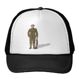 WW1 soldier Marine Sketch Trucker Hat