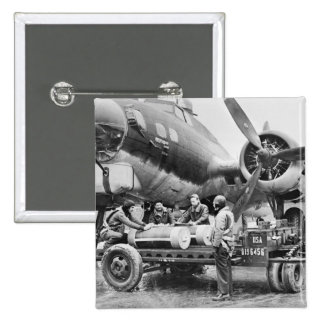 WW2 Airplane and Crew 1940s Buttons