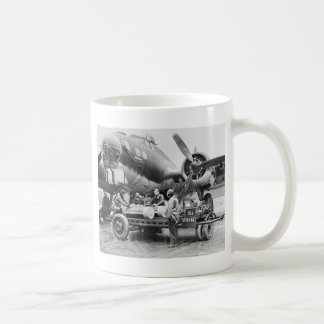 WW2 Airplane and Crew: 1940s Classic White Coffee Mug