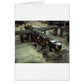 WW2 Airplane Factory, 1940s Greeting Card