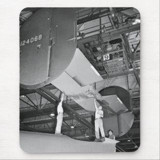 WW2 Airplane Factory, 1940s Mouse Pad