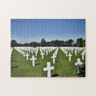 WW2 American Cemetery Normandy France Puzzle