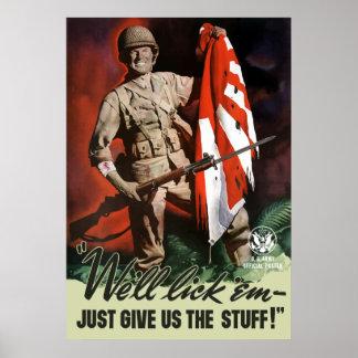 WW2 Army -- We'll lick 'em Poster