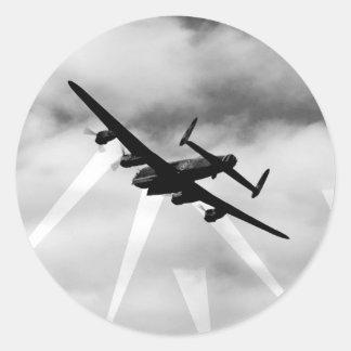 WW2 Avro Lancaster Bomber Classic Round Sticker
