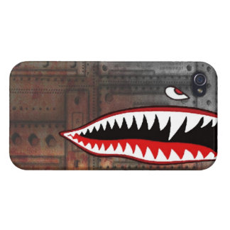 WW2 bomber shark teeth world war plane jet sea coo Cover For iPhone 4
