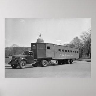 WW2 Bus Trailer, 1942 Poster