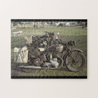 WW2 Canadian Motorbikes Normandy France Puzzle