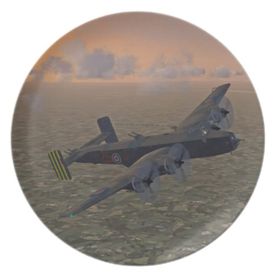 WW2 Halifax Bomber Plane Plate