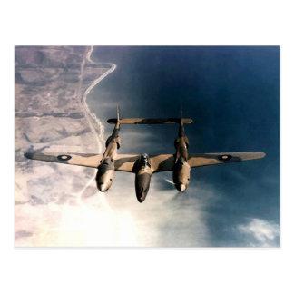 WW2 Historic Wartime Aircraft in Flight Postcard