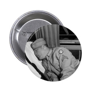WW2 Soldier Napping 1943 Pin