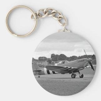 WW2 Spitfire Fighter Plane Keychain