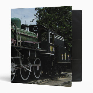 WW2 Steam Train at the River Kwai Bridge Vinyl Binder