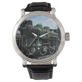 WW2 Steam Train at the River Kwai Bridge Wrist Watch