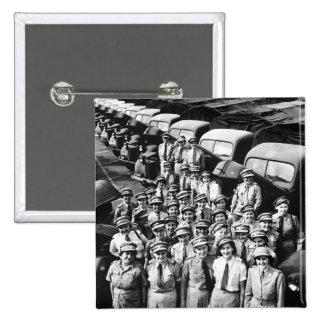 WW2 Truck Ladies, 1940s 2 Inch Square Button