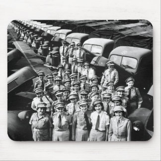 WW2 Truck Ladies, 1940s Mouse Pad