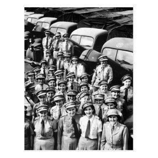 WW2 Truck Ladies, 1940s Postcard