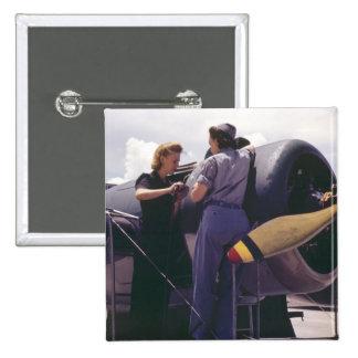 WW2 Women Aviation Mechanics Pinback Button