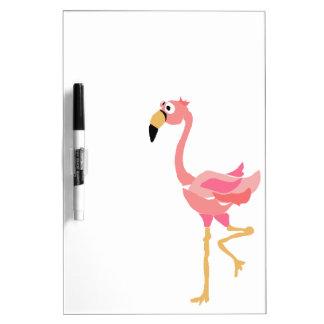 WW- Funny Flamingo Primitive Art Cartoon Dry-Erase Boards
