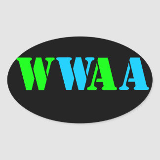 WWAA OVAL STICKER