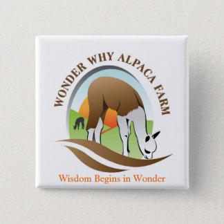 WWAF, Wisdom Begins in Wonder 2 Inch Square Button
