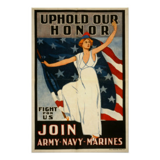 WWI American recruiting poster
