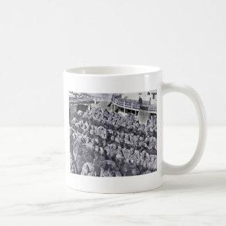 WWI Black Soldiers on Transport Ship Coffee Mug